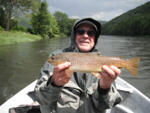 Jim Swift Jr. with a West Branch brown taken on a streamer. Photo: Jim Swift III