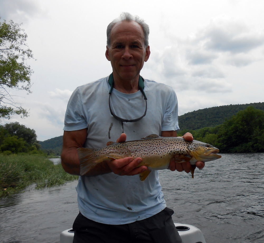David Bender with a GREAT West Branch Brown taken yesterday. Photo: Jeff White