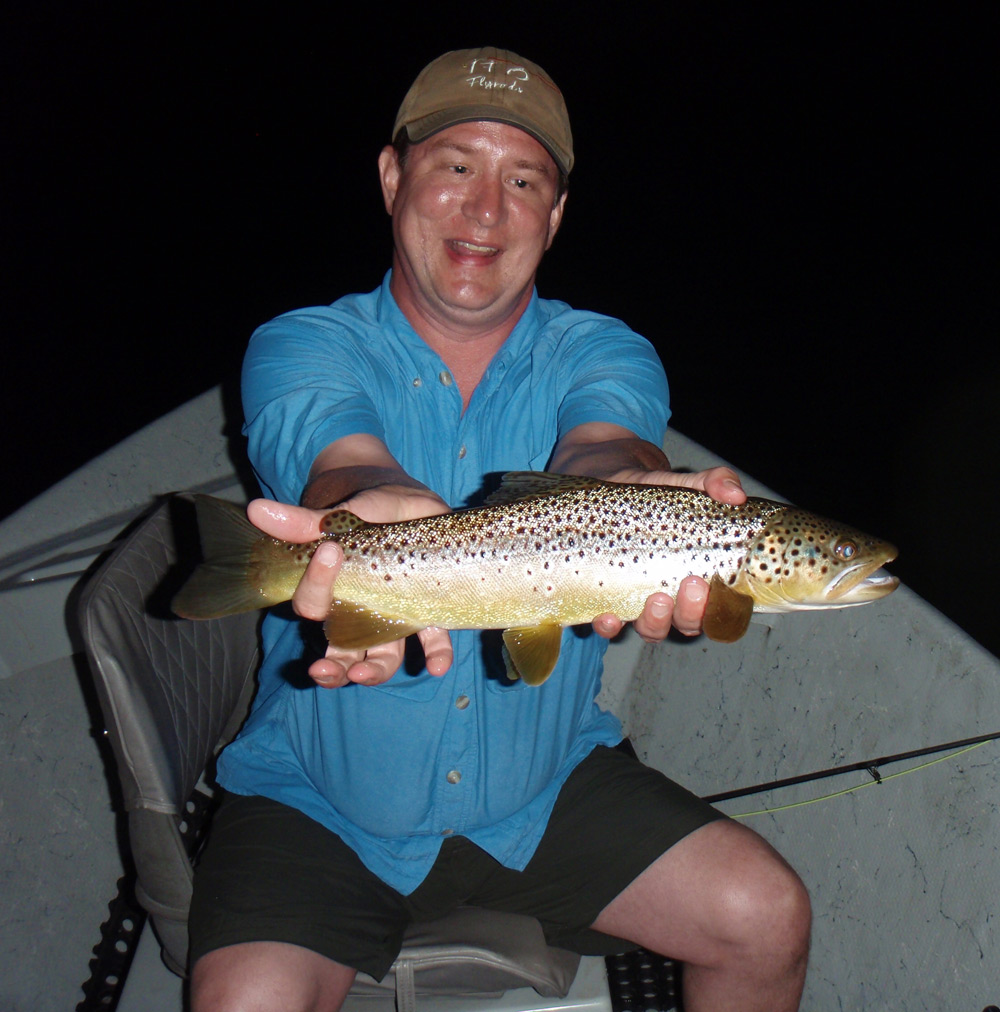 Fred Gardner with a great West Branch Brown from yesterday evening. Photo: Bruce Miller
