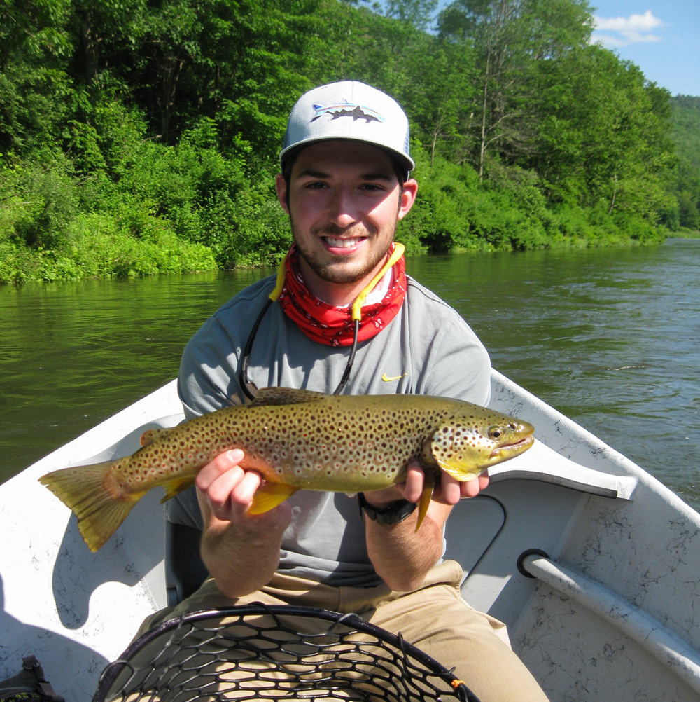 Even the interns get in on the action! Matthew Fedrizzi with a nice big brown! Photo: Bob Lewis
