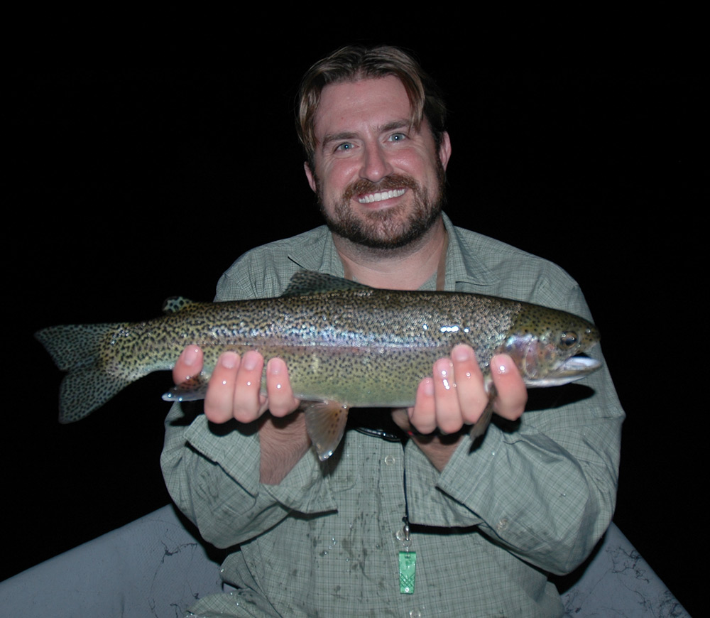 This nice bow was caught at half past dark-thirty (8:27 or so) last night. Photo: Pat Regan