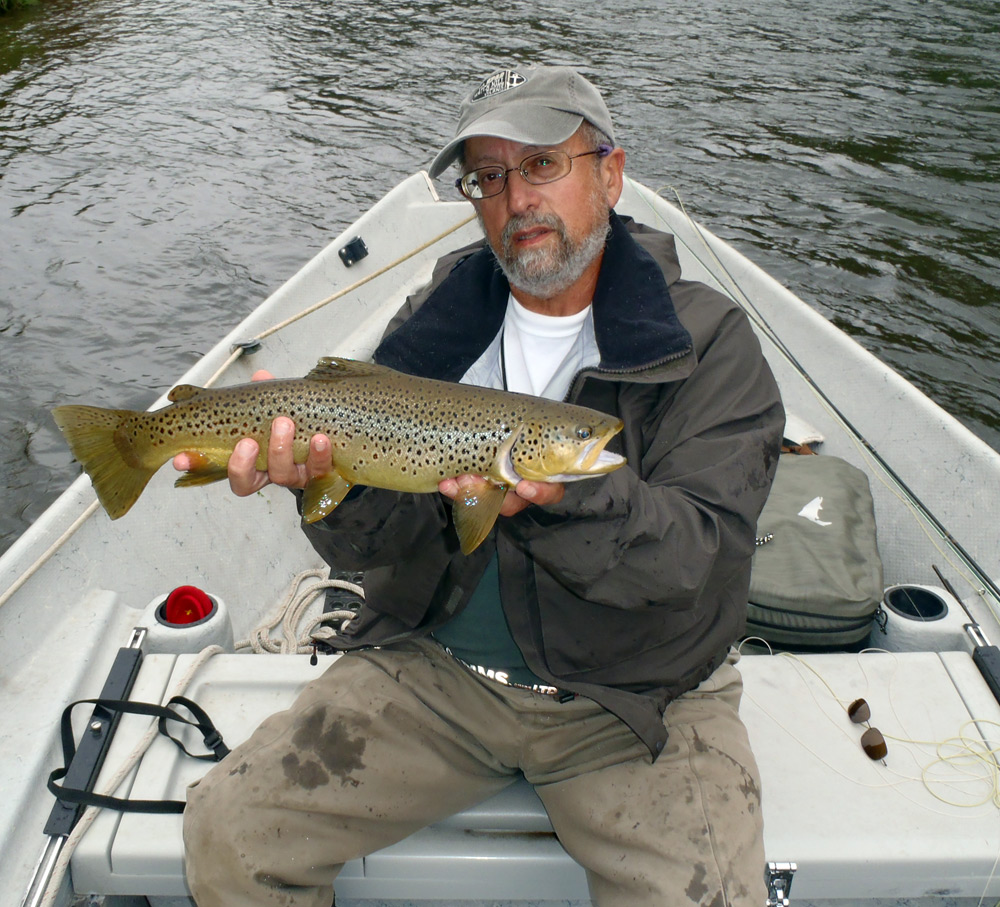 Bruce Miller holding a great fish caught by his buddy Joe Dsole Thursday. Photo by the angler