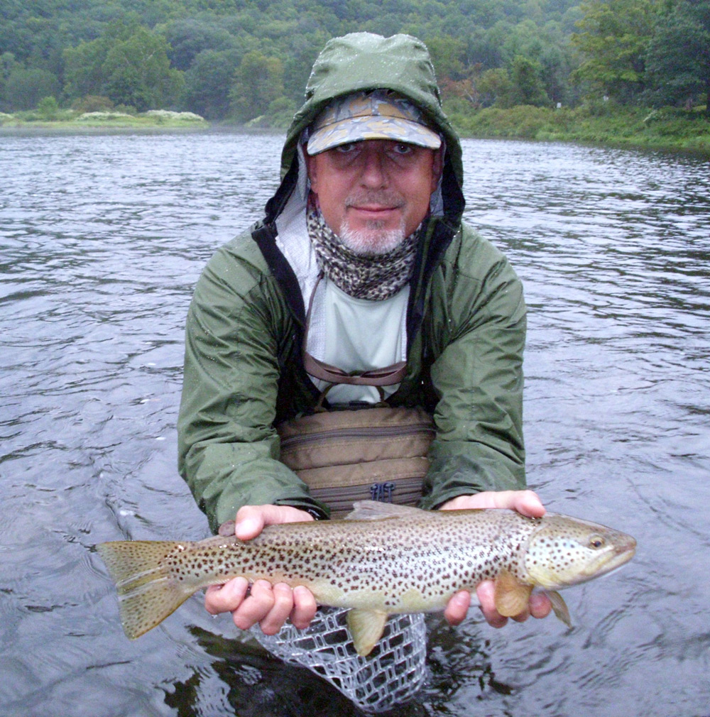 Dave Price with a nice brown taken in Home Pool this weekend.