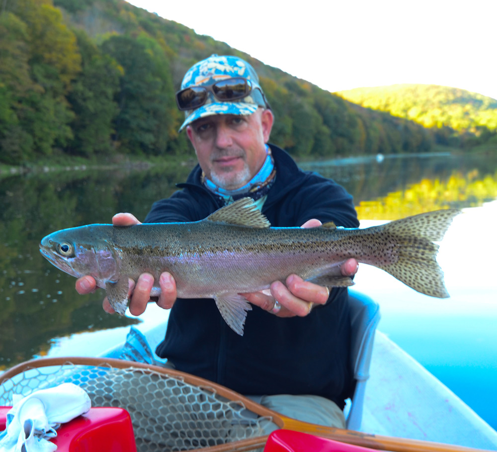 Dave Price with a BIG West Branch 'Bow. Photo: Bob Lewis