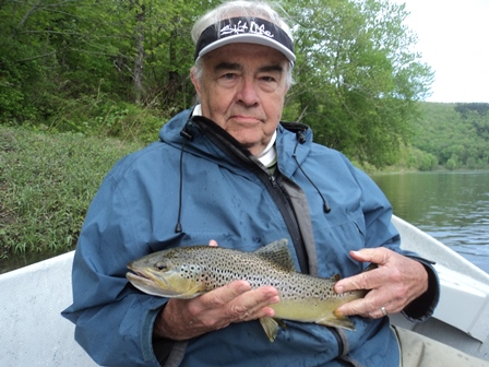 Roger with a nice fish this week.  Photo by Bruce Miller