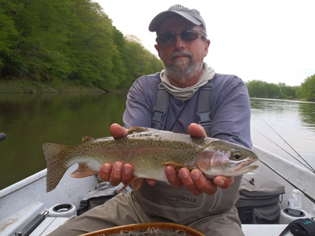 Bruce with a classic Delaware rainbow