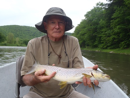 Dick with a Mainstem brown yesterday.  Photo by Bruce Miller