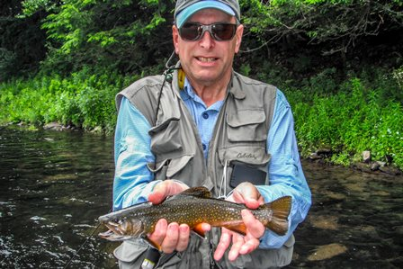 Very Cool- Bruce landed a brookie out front the other day- we see a few each season