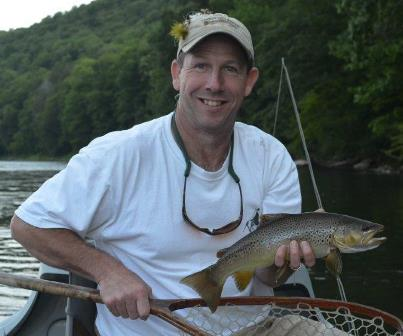 Ken with a chunky Mainstem brown from the weekend