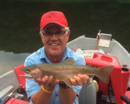 Bob Lewis with a good Delaware River rainbow