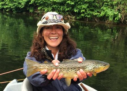Christine with a nice fish from this weekend