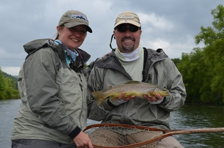 Allen and Samantha working together to land this one on the West Branch