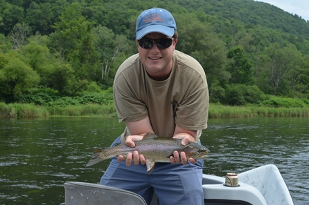 Theo had a decent day on the West Branch yesterday- this one was thick!