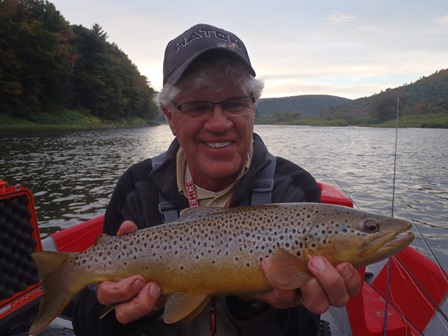 Bob With a nice brown- Photo by Bruce Miller