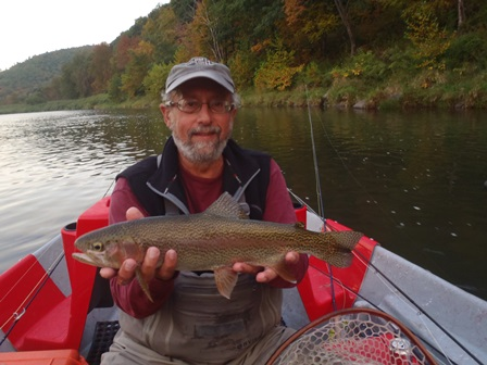 Bruce with a nice rainbow- Photo by Bob Lewis