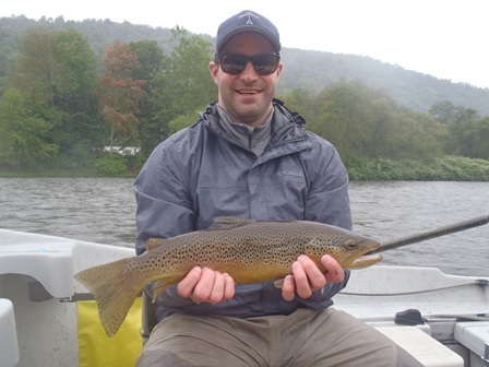 Joel with a nice West Branch brown.  Photo by Bruce Miller