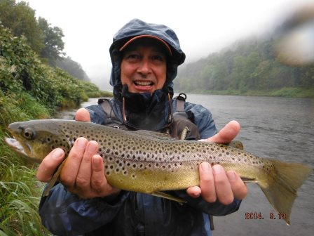 Ted with a great Mainstem brown trout