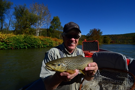 Bob with a nice brown.  Photo by Bruce Miller
