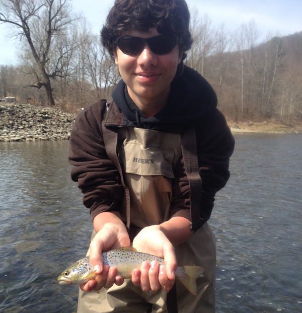 Peter found some success on the West Branch last weekend.  He's going to be a great fisherman!