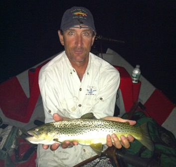 Les sent us this picture of a thick fish caught before the Mainstem temp issues.