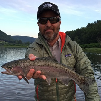 Andy with a nice rainbow yesterday.  Photo by David Burgher