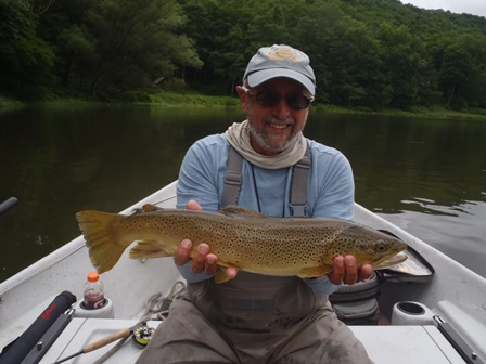 Bruce MIller with a nice brown yesterday