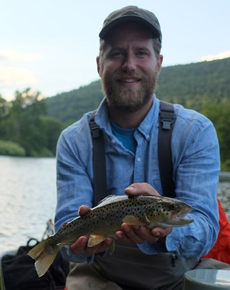 Brian found one on the West Branch yesterday.  Photo by Jared Makowski
