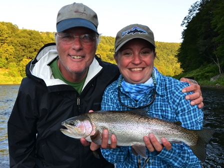 Samantha and Tony found a wide bodied rainbow this week!