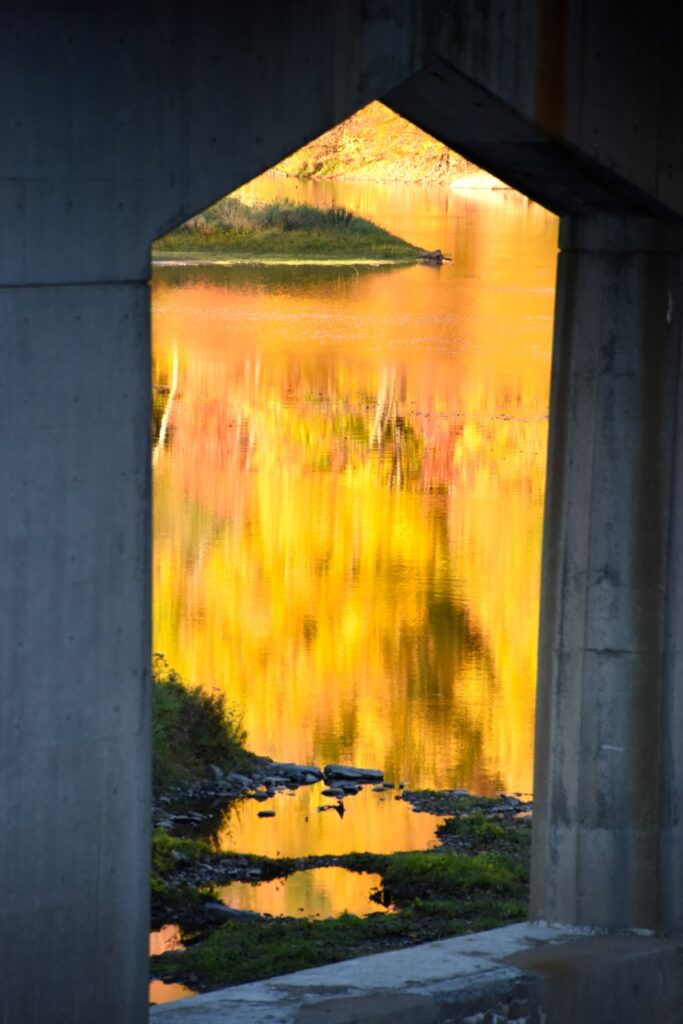 "Bob Lewis sent us some artsy river photos from the fall.  This one he titled ""Church"""