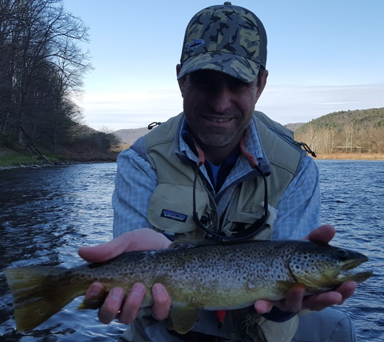 Charlie with a nice evening brown yesterday.  Photo by Kevan Smaracko