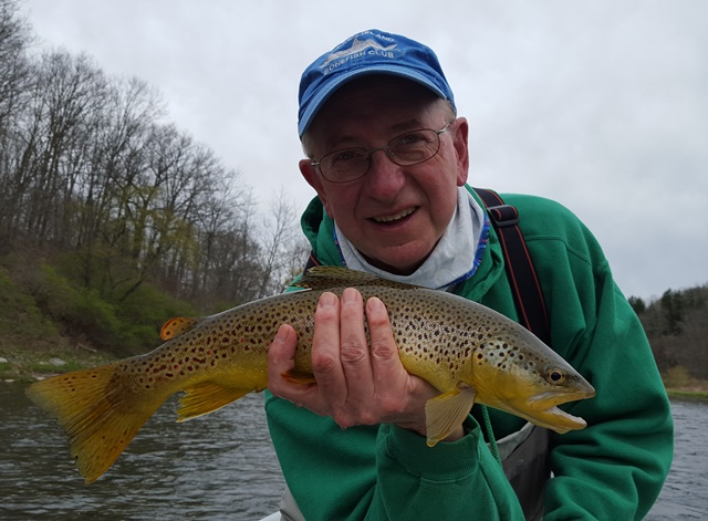 Tony with a beautiful brown from yesterday.  Photo by Kevan Smaracko