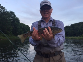 Ron with a nice fish this week.  Photo by Samantha Dennis