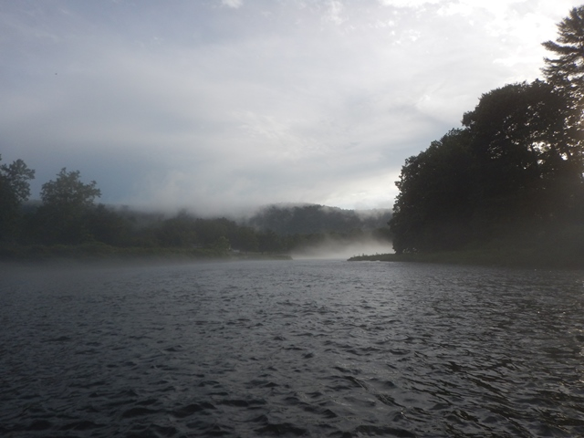 West Branch in the fog yesterday