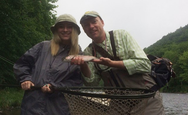 Father Daughter trip.  Tim and Emily with a morning rainbow.  Photo by Samantha Dennis