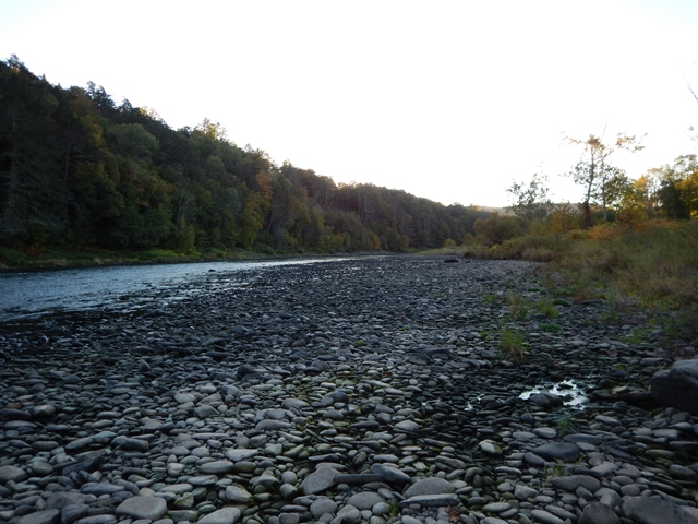 Exposed river bed on the Mainstem October 5th.  It' still exposed today