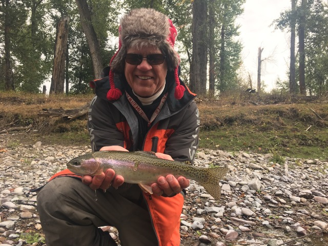 Bob Lewis in Montana yesterday.  You don't need this awesome a hat on the Delaware yet.