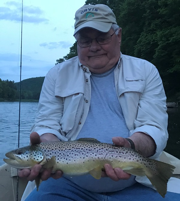 Ron fishing the evening.  Photo by Samantha Dennis