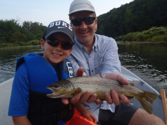 MIke and with nice brown yesterday.  Photo by Bruce Miller