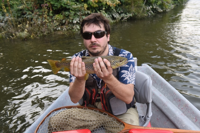 Paul with a West Branch fish this week.  Photo by Bob Lewis