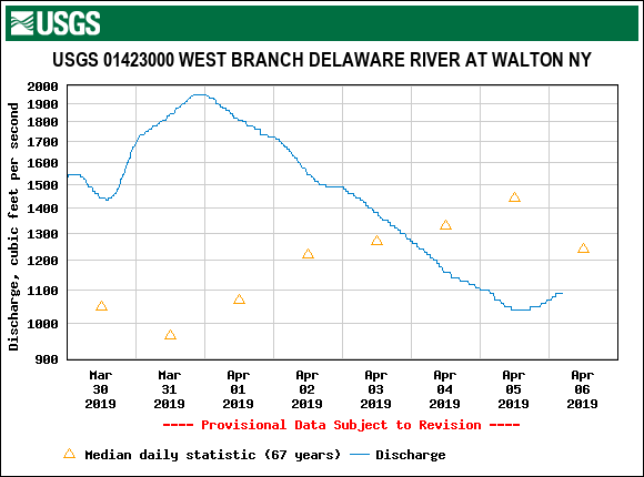 West Branch above Cannonsville.  We may begin to spill a little soon