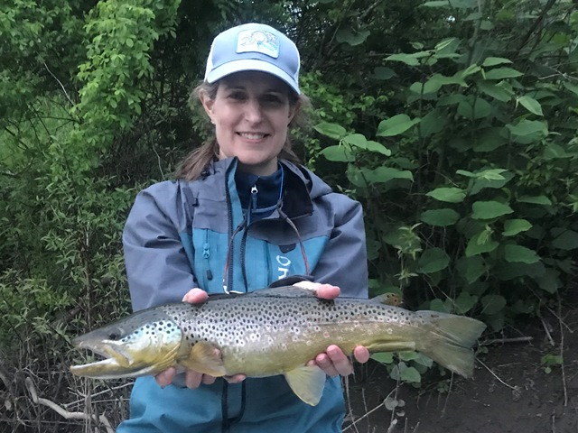 Beth with a great brown yesterday.  Steve Shen photo