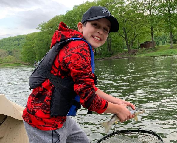 Eli doing great on his first day fly fishing.  Samantha Dennis photo