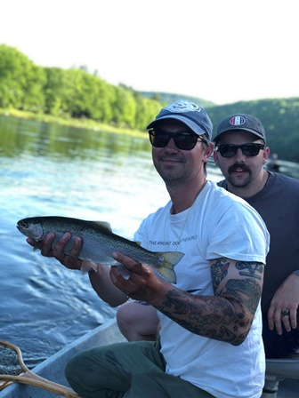 Jared with a chunky rainbow yesterday