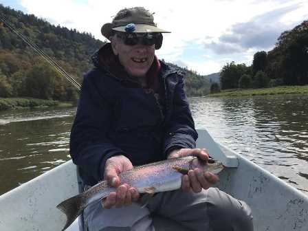 Stevens with a nice rainbow from the weekend