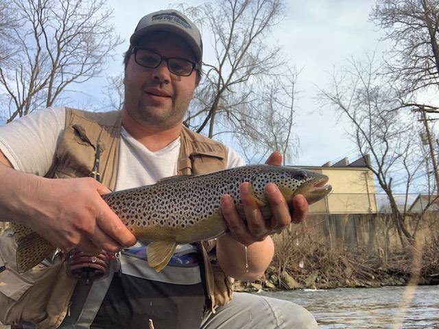 """John with a 19"""" local brown"""
