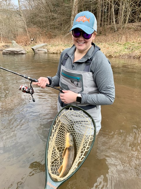 Marci with a solid local chub!