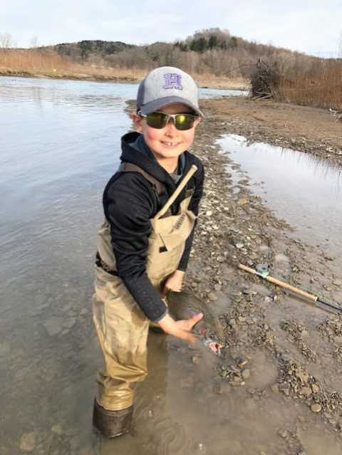 Ryan fishing with his Dad Mike over the weekend