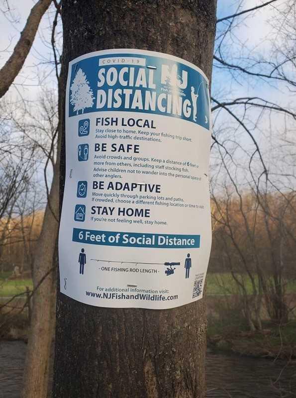 Good advice along a NJ stream.  Tim Glynn photo