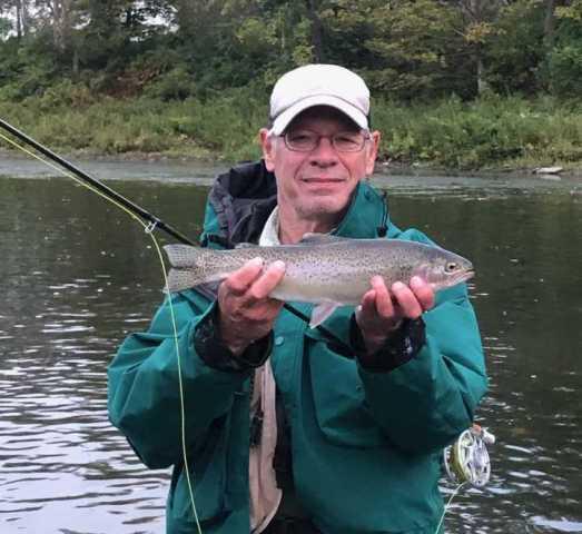 Ed found some willing rainbows yesterday.  Ron Reedy photo