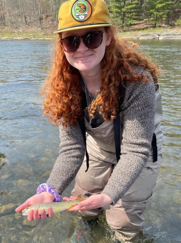 Georgia with her first dry fly fish!  Andrew Zmijewski photo